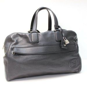 GUCCI Leather Carry-On Duffel Travel Bag Hand Bag